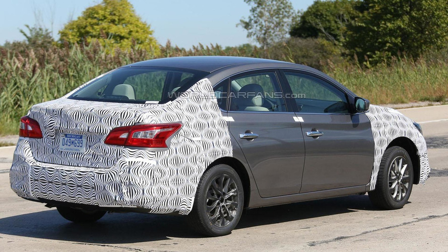 Nissan Sentra facelift spied, test driver gives us the one finger salute