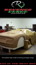 Revenge Designs Verde Supercar Concept teaser clay model photo - 800