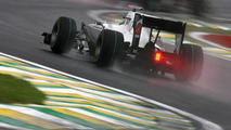 Nico Hulkenberg (GER) on wet track, Williams F1 Team - Formula 1 World Championship, Rd 18, Brazilian Grand Prix, Saturday Practice, 06.11.2010 Sao Paulo, Brazil