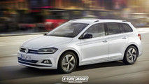 VW Polo Variant render