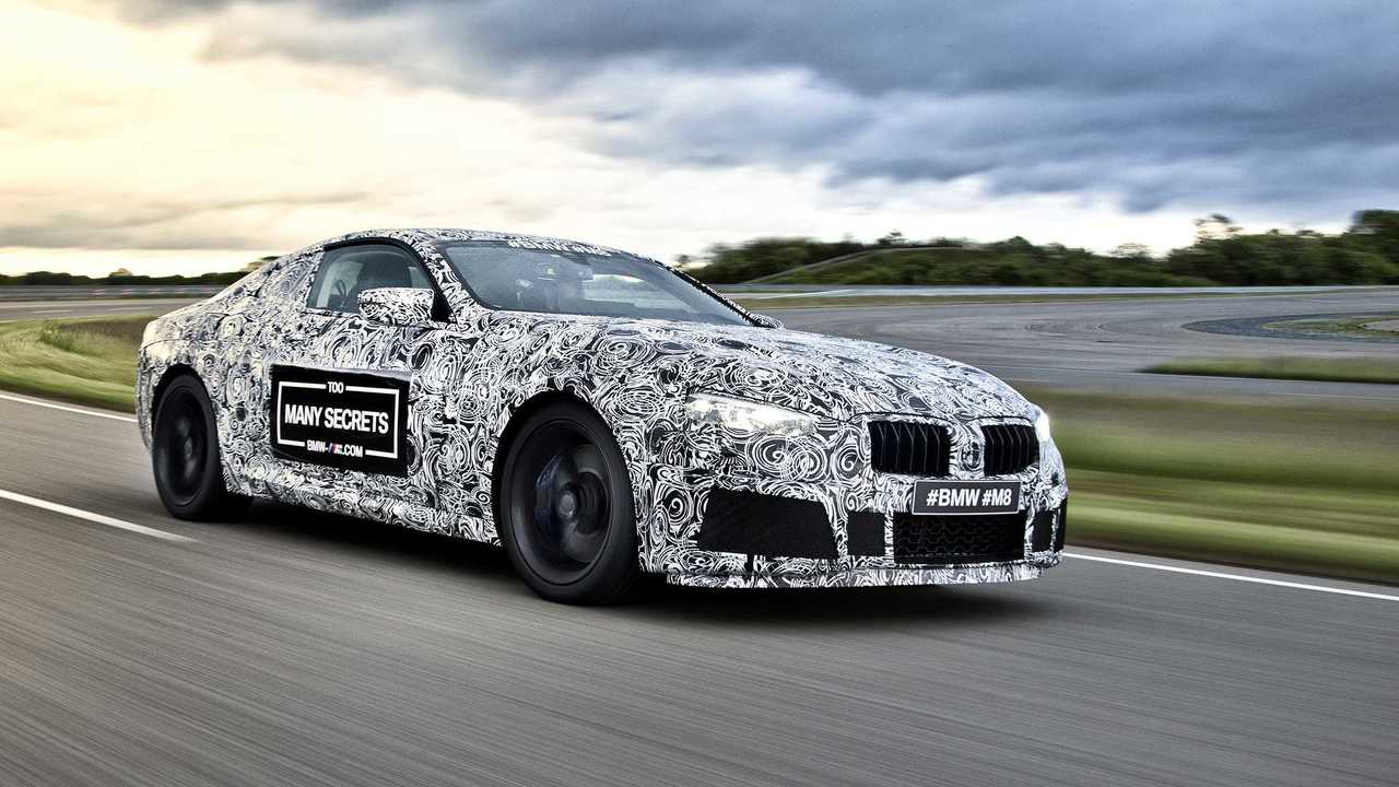 BMW M8 camouflaged prototype