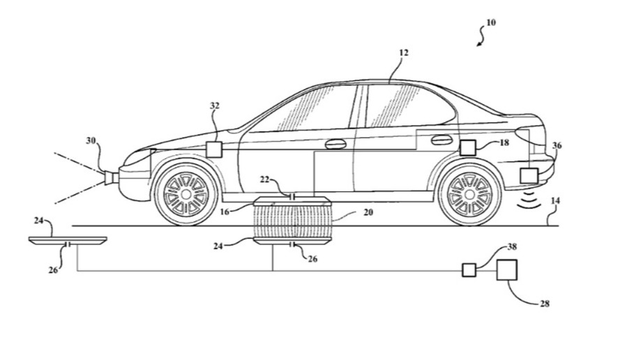 Toyota wireless ev charger patent
