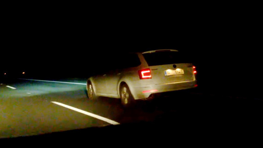 2018 Skoda Octavia facelift screenshot from spy video