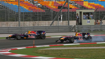 Mark Webber & Sebastian Vettel crash during fight for 1st place at the 2010 Turkish Grand Prix