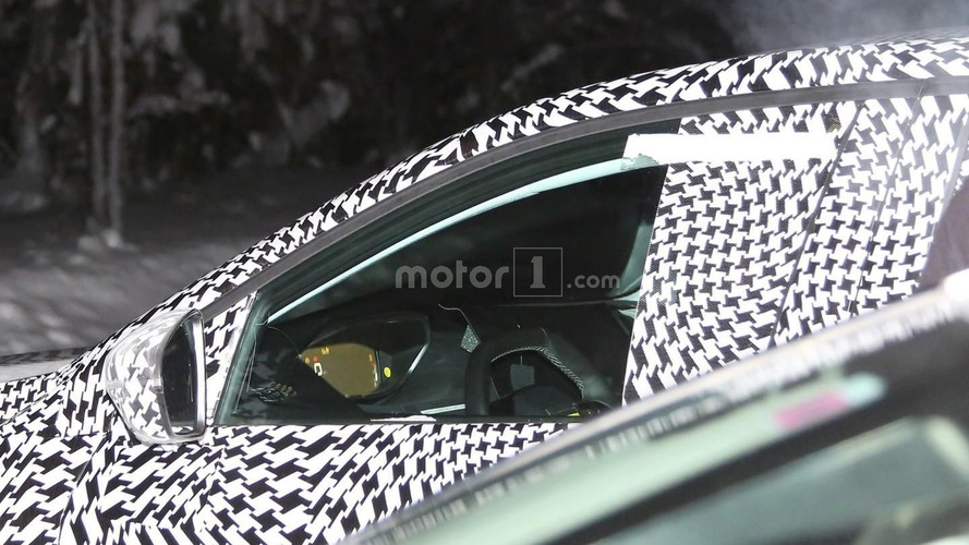 2017 Peugeot 3008 spied showing digital instrument cluster