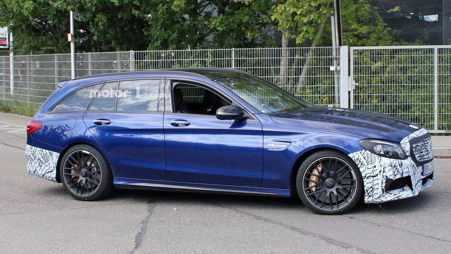 2019 Mercedes-AMG C63 Wagon Spied Testing With New Headlights