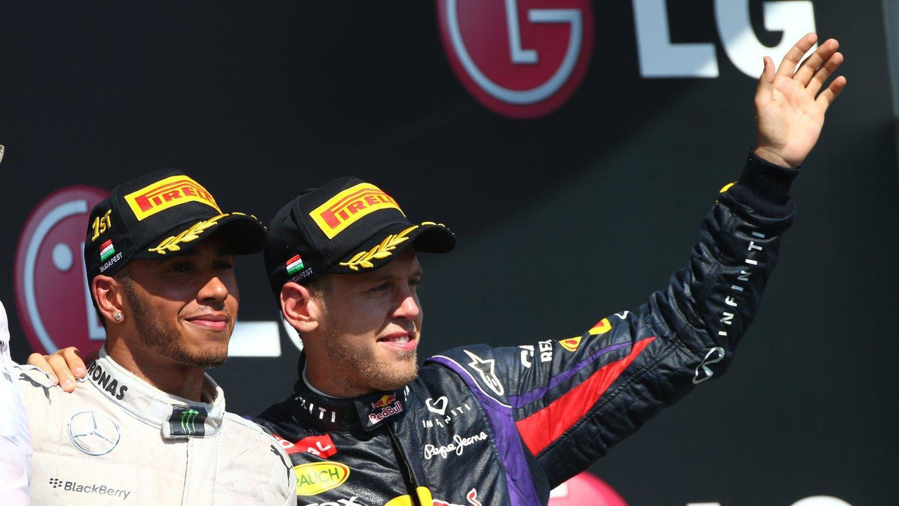 Lewis Hamilton and Sebastian Vettel 28.07.2013 Hungarian Grand Prix
