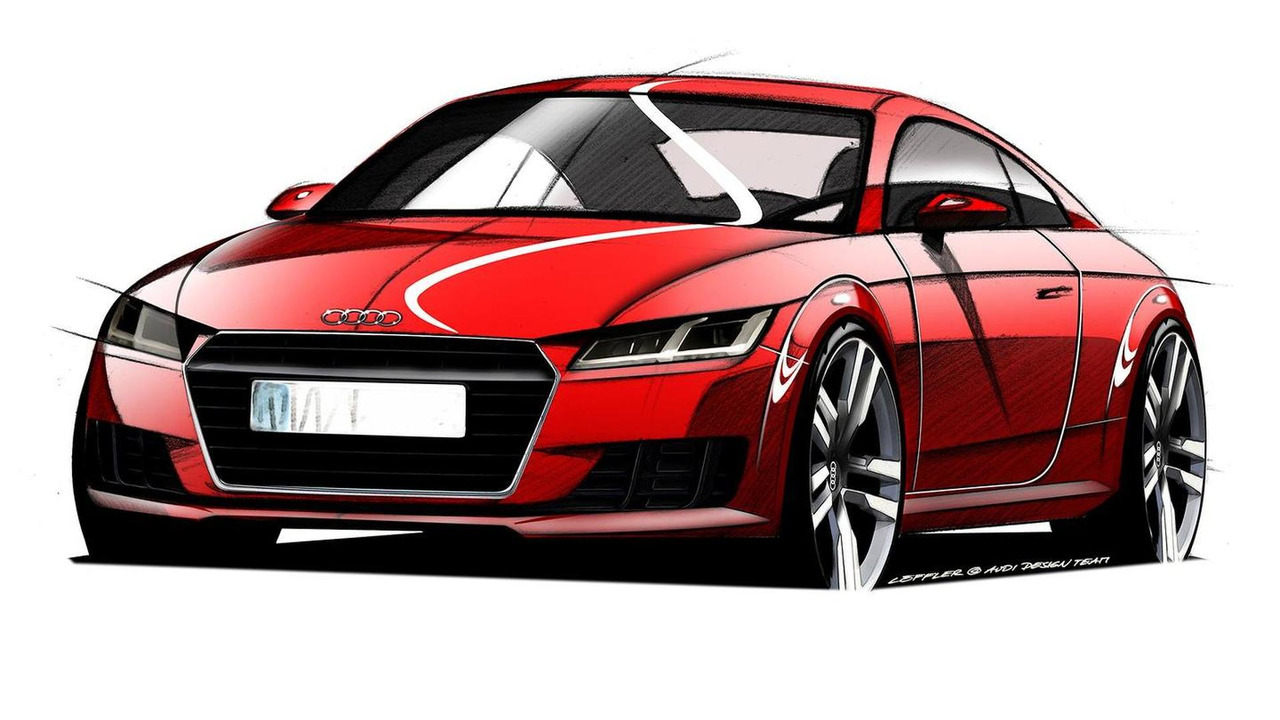 2015 Audi TT official design sketch