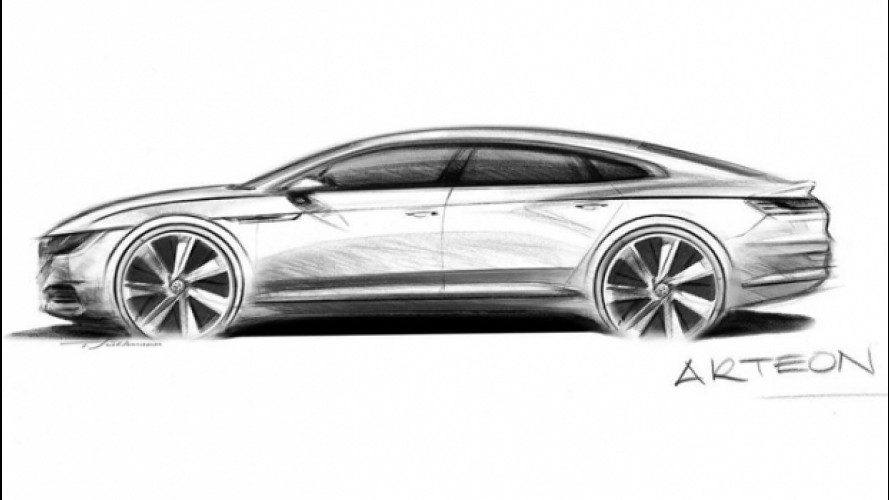 Volkswagen Arteon, il teaser della coupé a quattro porte [VIDEO]