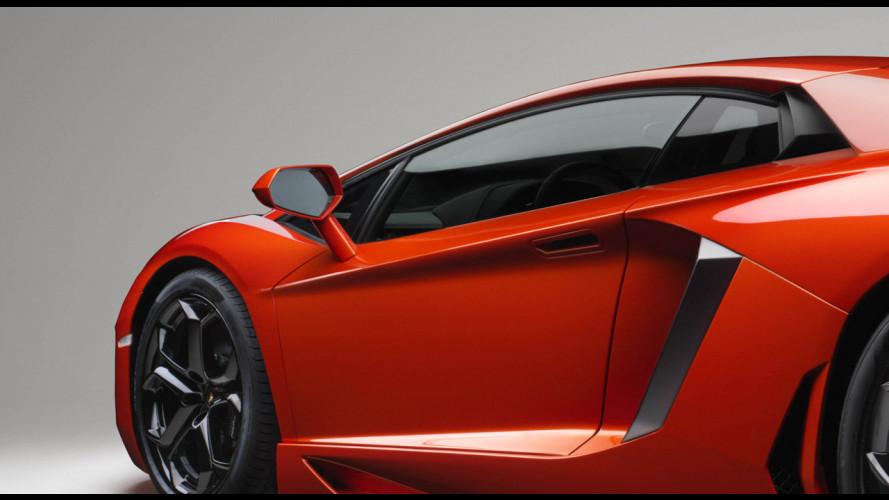La Lamborghini Aventador violata dalla rete