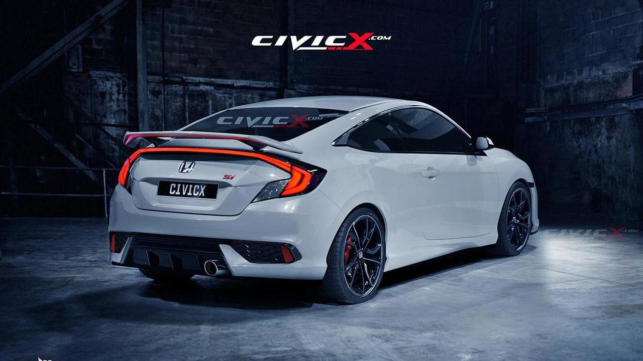 2016 Honda Civic Coupe Si render