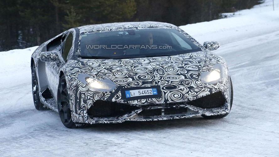 Lamborghini Gallardo successor spied playing in the snow