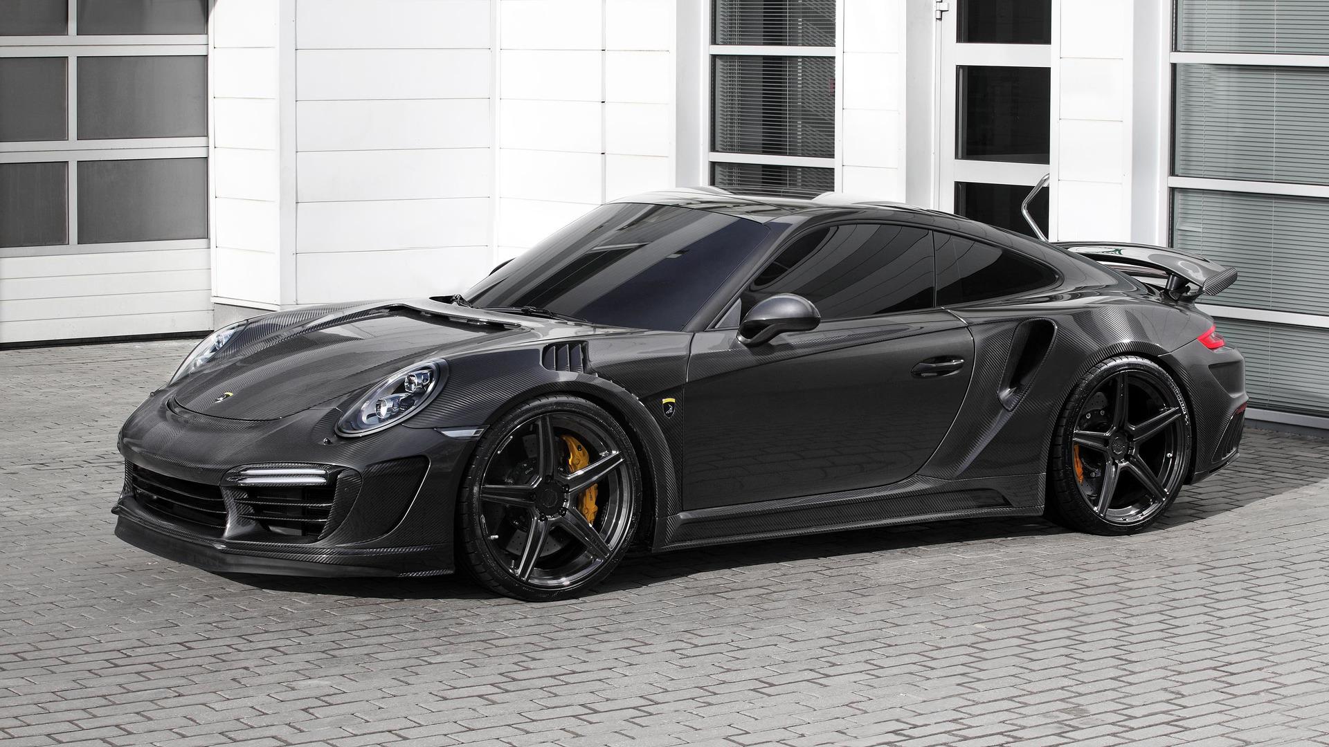tuner gives porsche 911 turbo carbon fiber body 650 hp. Black Bedroom Furniture Sets. Home Design Ideas