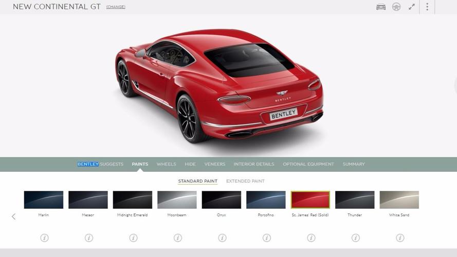 Configurez votre Bentley Continental GT !
