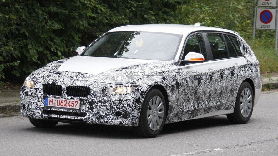 2012 BMW 3-Series Touring spied in white
