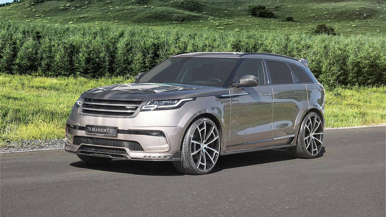 mansory gives land rover range rover velar a carbon fiber makeover. Black Bedroom Furniture Sets. Home Design Ideas
