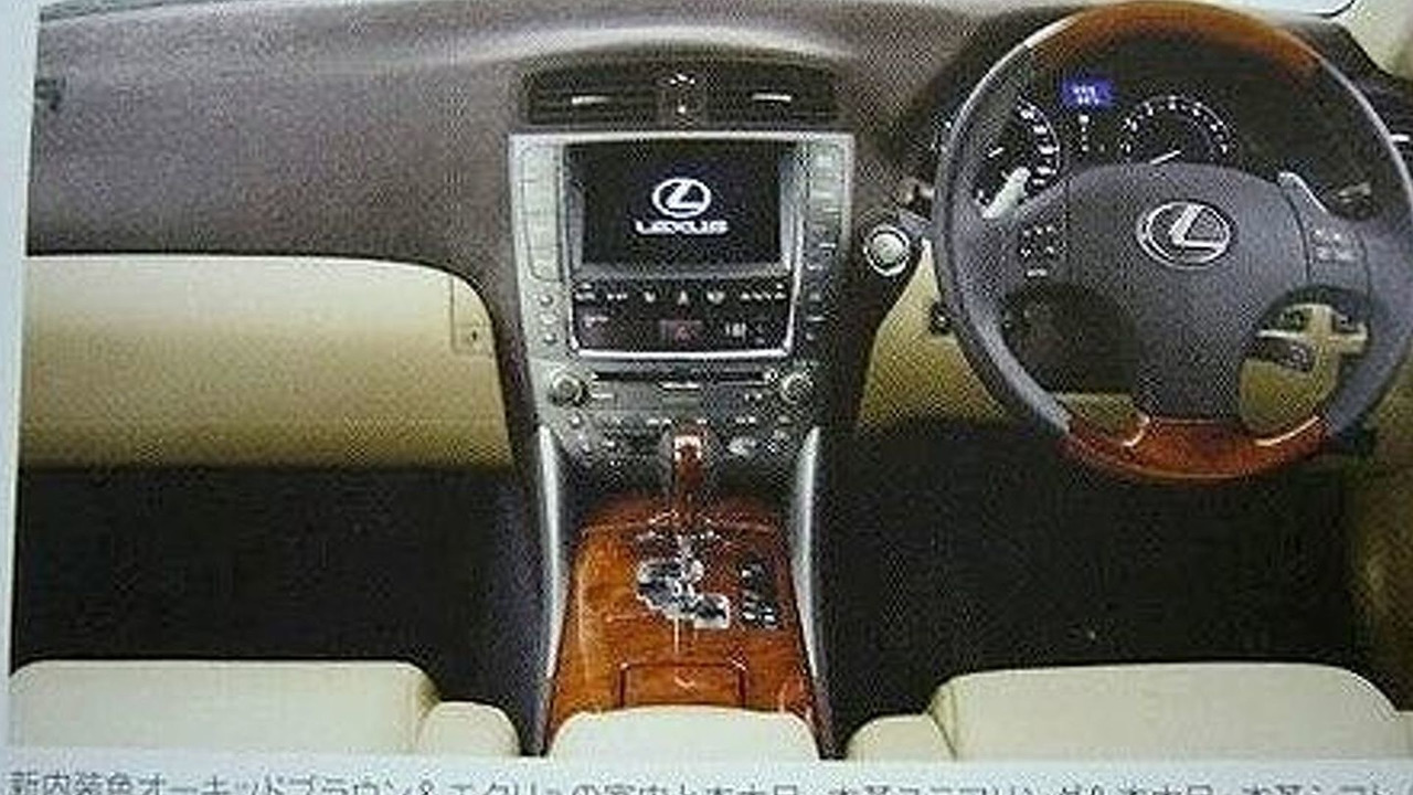 Lexus IS Facelift Brochure Scan