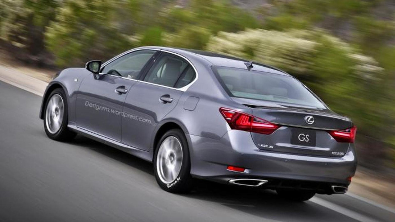Lexus GS facelift render