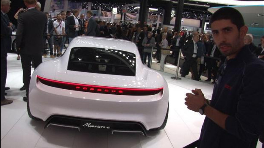 Salone di Francoforte, Porsche, Mission-E l'anti-Tesla tedesca [VIDEO]