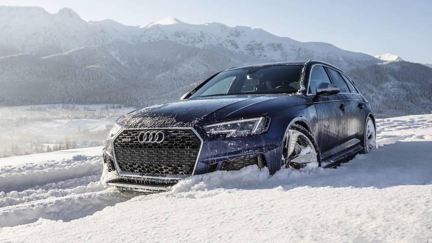 Audi RS4'ün kar üzerindeki muhteşem görüntülerini izleyin