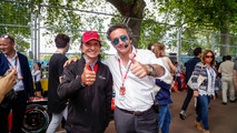 Emerson Fittipaldi and Alejandro Agag, Formula E CEO