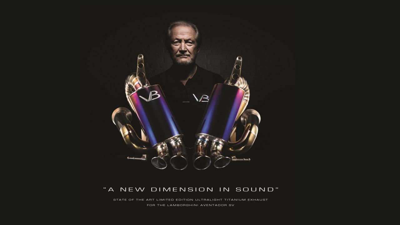 Titanium exhaust by Valentino Balboni for Lamborghini Aventador SV