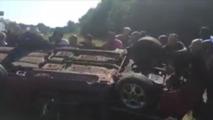 Good samaritans flip over car to save driver after crash