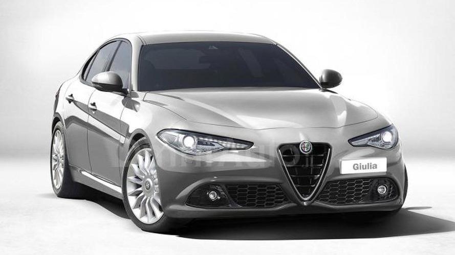 Alfa Romeo Giulia gets rendered in non-Quadrifoglio guise