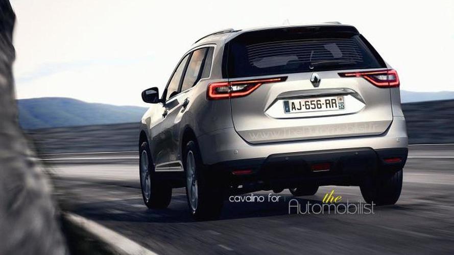 Second generation Renault Koleos speculatively rendered using latest spy pics