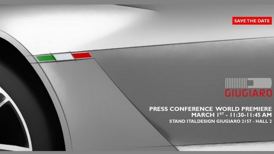 Italdesign Giugiaro concept teased ahead Geneva
