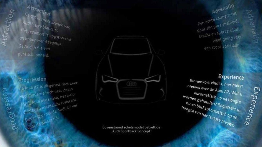 2011 Audi A7 Sportback reveal this month, teaser site launched