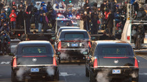 Obama Cadillac presidential limo during Inaugural parade 2009