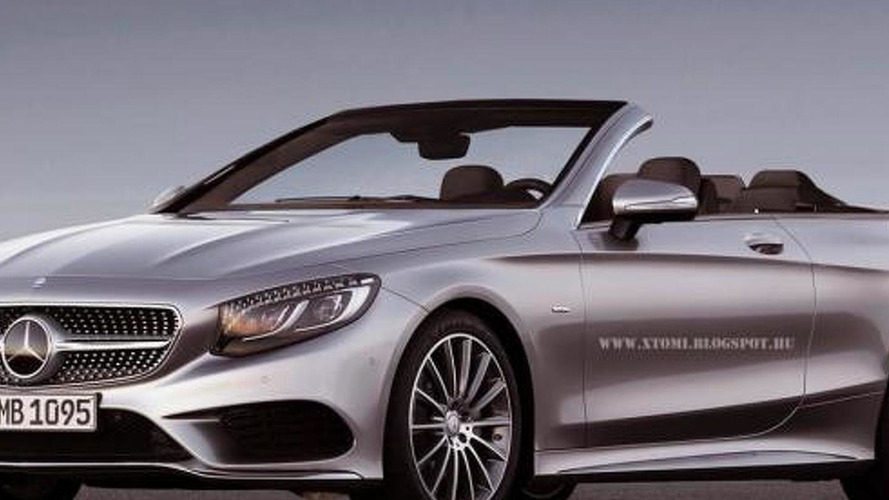 Mercedes-Bens S-Class Cabriolet rendered based on the coupe