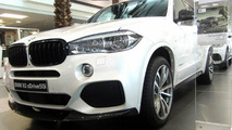 First X5 (F15) with M Performance kit exhibited at BMW Abu Dhabi Motors
