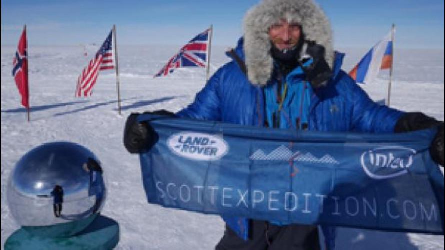 Land Rover pioniera al Polo Sud