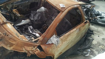 Lamborghini Murcielago destroyed by fire