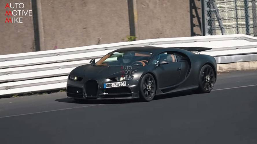 Why is Bugatti testing two Chirons at the Nürburgring?