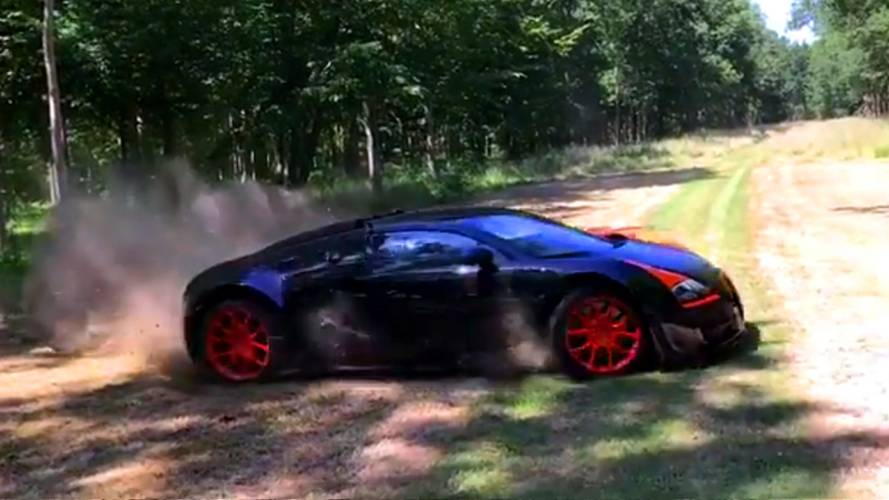 Bugatti Veyron tears up the UK countryside
