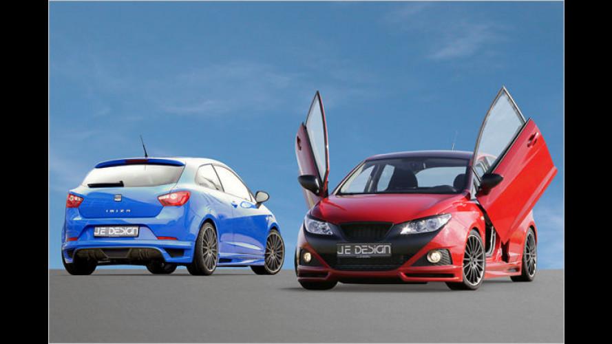 JE Design veredelt Seat Ibiza Fünftürer und Sportcoupé