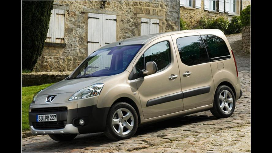 Peugeot Partner Tepee jetzt auch mit sieben Sitzen erhältlich