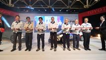 Hiroyuki Koba, Masaya Ishii, Moritaka Yoshida, Dr. Johan van Zyl, Hiroshi Kato, Yasuhiko Ishibashi ve Shunichi Sano