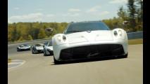 Pornografia automotiva: Porsche 918, LaFerrari, McLaren P1 e Pagani Huayra na pista! (vídeo)