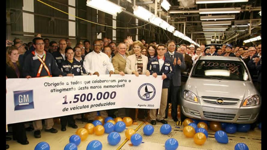 GM celebra 1,5 milhão de veículos produzidos em Gravataí