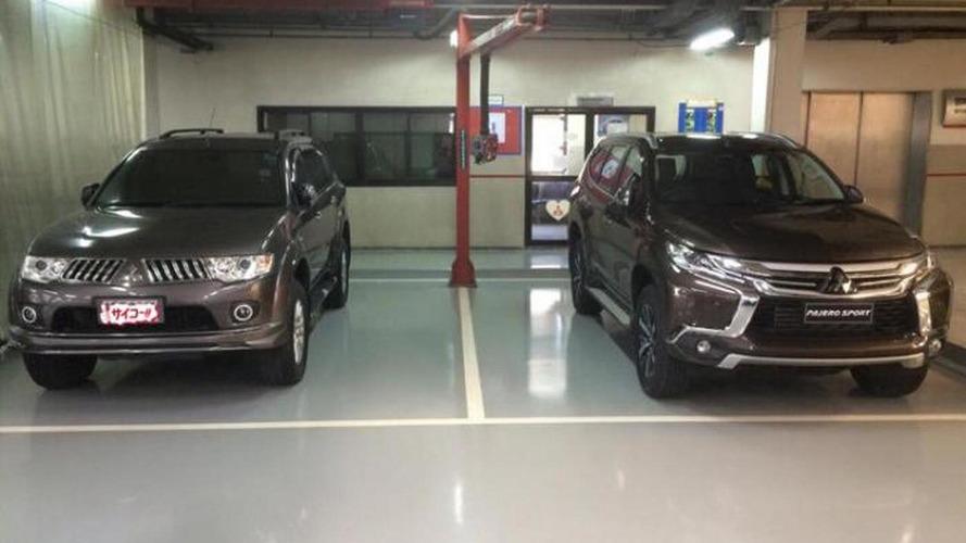 2016 Mitsubishi Pajero Sport photographed next to 2014 Mitsubishi Pajero Sport