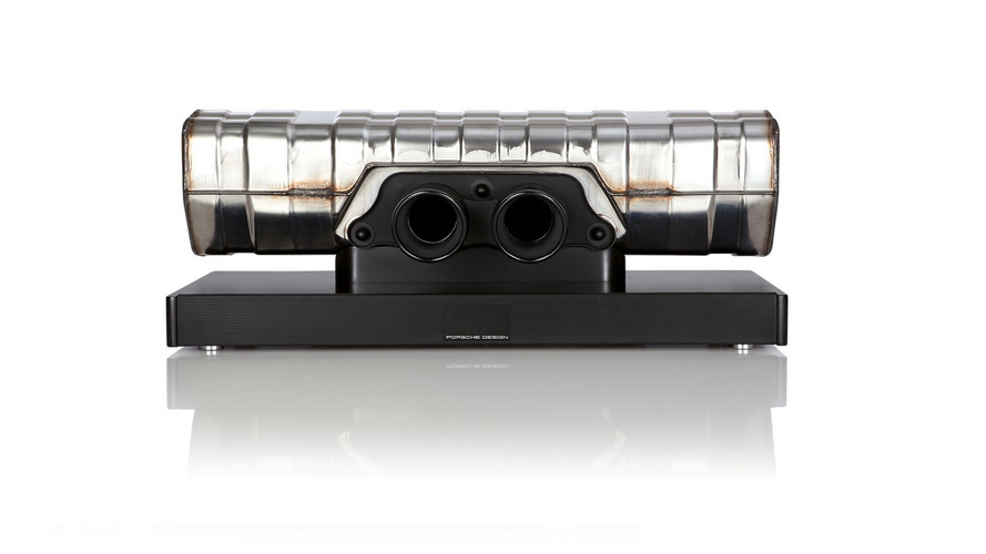Porsche will sell you a $4.3k soundbar made from an exhaust. Your GF will hate it