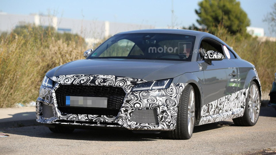 2016 Audi TT RS spied being benchmarked against the Porsche Cayman GT4