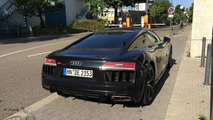 2015 Audi R8 V10 painted in Mythos Black seen in the metal