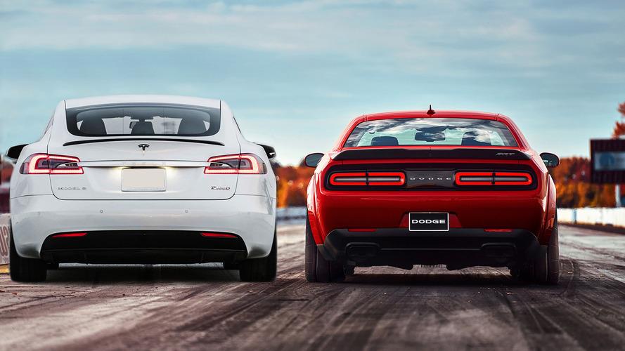 La Model S P100D plus rapide que la Challenger SRT Demon ?