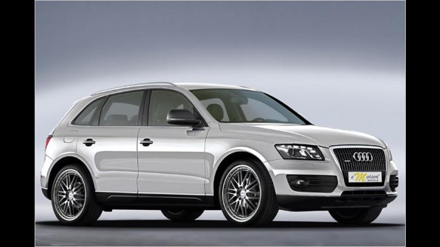 Emotion-Wheels und Digi-Tec tunen den nagelneuen Audi Q5