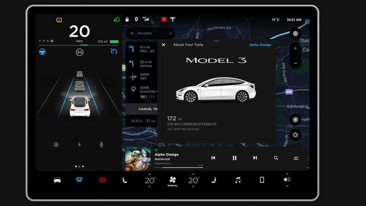 Tesla Model 3 écran tactile